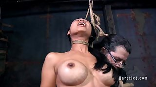 Asian amateur Tia Ling blindfolded, tied up and poked with a soreness dick