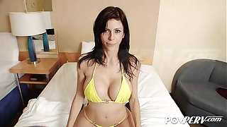 POVPERV Busty Alexis Fawx milks this enduring cock