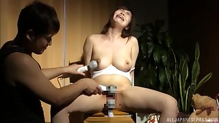 Busty nude Tokyo wife endures harsh sexual treatments in scenes be proper of BDSM