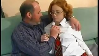 Tutor Persuades His Nervous Pupil To Pound !