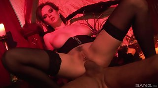 Slutty blonde MILF Tarra White ass pounded in high heels coupled with stockings